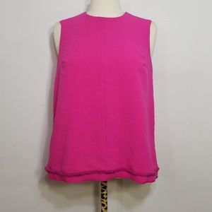 Victoria Beckham Target Pink Fuchsia Twill Tank Sm